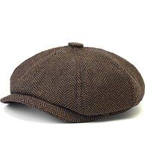 uomo berretto casual invernale in lana miscelata di newsboy da outdoor cappello cabbie