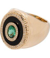 o thongthai 14k yellow gold tourmaline diamond ring