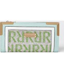 river island womens green monogram embellished purse