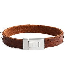 stainless steel & leather distressed bracelet