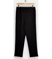 black slim cigarette pants - black