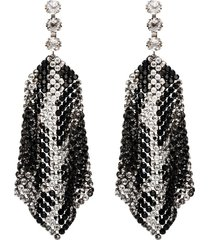 isabel marant draped crystal-embellished earrings - metallic