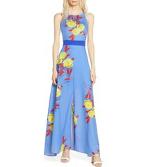 women's foxiedox polly tropical floral maxi dress