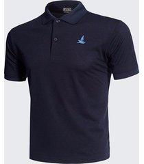 camicie da golf in cotone tinta unita color gilet da uomo girocollo