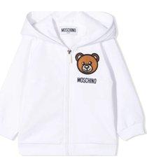 moschino white stretch-cotton sweatshirt