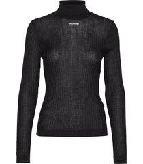 hmlcita knit l/s turtleneck polotröja svart hummel hive