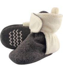 hudson baby boys and girls cozy fleece booties