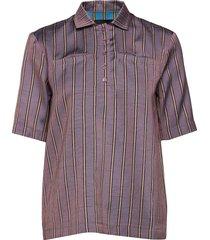 gabi shirt blouses short-sleeved paars birgitte herskind