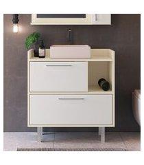 balcão para banheiro criando mobilia gb08 gabinete 2 portas