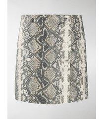 rotate snake print skirt