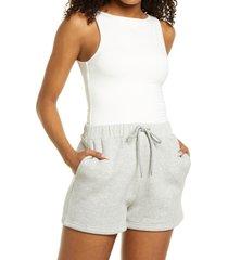 women's naked wardrobe rock the boat-neck sleeveless bodysuit, size medium - white