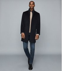 reiss coal - overcoat with removable insert in navy, mens, size xxl