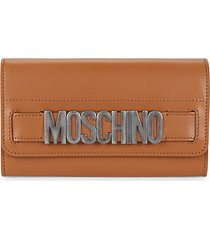 logo leather continental wallet