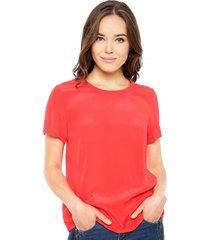 blusa regular flaux rojo calvin klein