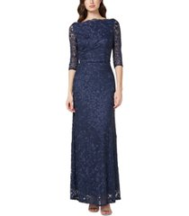 js collections embroidered floral gown
