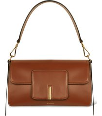 wandler georgia leather shoulder bag - beige