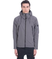 c.p. company casual jacket in grey synthetic fibers