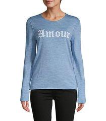 graphic merino wool sweatshirt