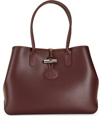 toggle-top leather tote