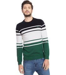 sweater jack & jones jco denver knit crew neck multicolor - calce regular