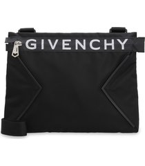 givenchy spectre leather and nylon messenger bag