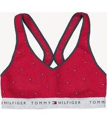 tommy hilfiger women's essential flag bralette apple red - xl