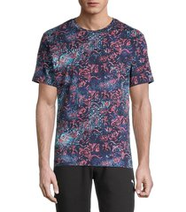 robert graham men's blount printed t-shirt - black multi - size xl