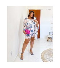 blusa almaria plus size miss taylor regata estampada off-white