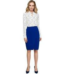 vest style s125 bedrukte blouse met lange mouwen - model 3 (ringen)