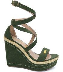 calzado dama plataforma 7 1/2 oliva 182916oliva mujer