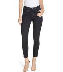 women's l'agence margot high waist crop jeans, size 29 - black