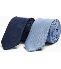 mens navy and blue tie multipack