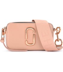 the marc jacobs snapshot small camera bag shoulder bag in powder pink saffiano leather