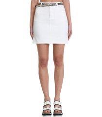 stella mccartney skirt in white denim