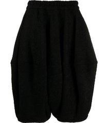 comme des garçons wool-blend balloon shorts - black