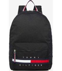 tommy hilfiger boy's solid backpack deep black -