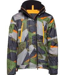 hooded polar windattacker dun jack multi/patroon superdry