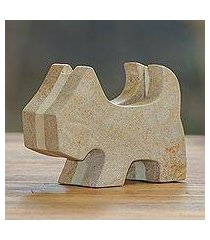 sandstone business card holder, 'yorkshire helper' (indonesia)
