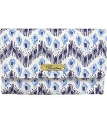 buxton women's mini ikat wave rfid mid-size trifold wallet