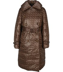 burberry london nylon trench coat with padding and monogram print