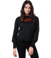 womens donna love crew sweatshirt