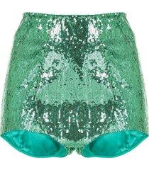 dolce & gabbana underwear sequin embellished shorts - green