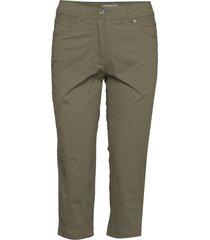 capri pants byxa med raka ben grön brandtex