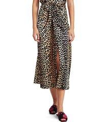 silk stretch satin maxi skirt