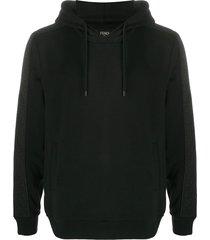 black cotton hoodie sweatshirt