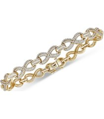 wrapped in love diamond infinity link bracelet (2 ct. t.w.) in gold-plated sterling silver, created for macy's
