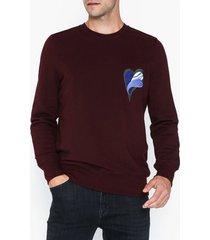 whyred murry embroidery tröjor burgundy