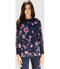 blouse klingel marine::roze