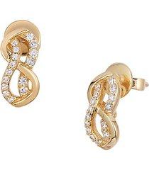 14k honey gold swirl stud earrings