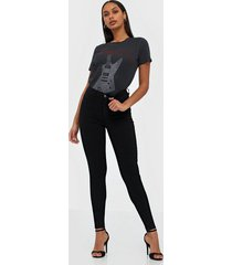 gina tricot molly high waist jeans skinny black